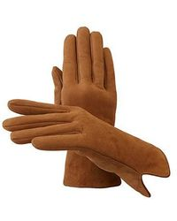 Aspinal - Ladies Sheepskin Lined Suede Gloves - Lyst