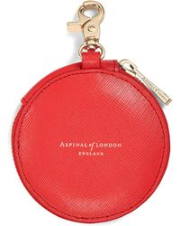 Aspinal - Round Coin Purse With Keyring - Lyst