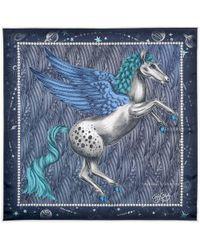 Aspinal - The Pegasus Silk Twill Scarf - Lyst