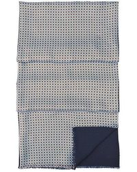 Aspinal - Double Faced Silk & Wool Scarf - Lyst