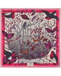 Aspinal - The Dockery Robin Cashmere Blend Scarf - Lyst