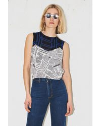 Assembly - Newsprint Scoop Cami - Lyst