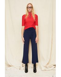 Assembly - Red Mockneck T-shirt With Zip - Lyst