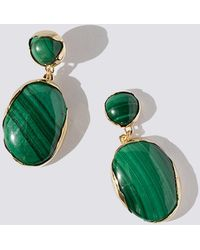Faris - Malachite Ovo Drop Earrings - Lyst