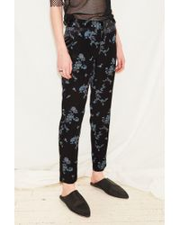 Assembly Black Orient Pintuck Pant