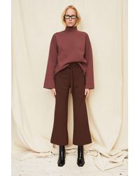 Nomia - Rust Cropped Turtleneck - Lyst