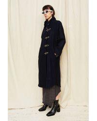 Assembly - Navy Wool Raglan Trenchcoat - Lyst
