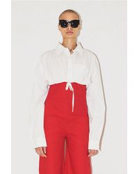 Assembly - Cropped Oversized Shirt - Lyst
