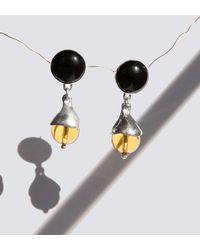 Faris - Silver Chapeau Drop Earrings - Lyst