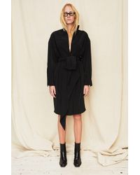 Assembly - Black Silk Scarf Shirt Dress - Lyst