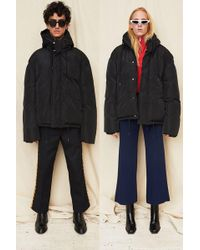 Assembly - Black Puffer Coat - Lyst