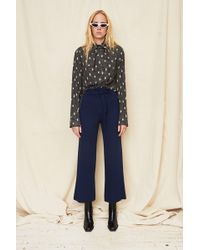 Assembly - Blue Twill High Waist Tie Pant - Lyst