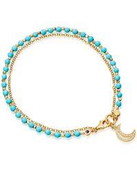 Astley Clarke - Turquoise Moon Biography Bracelet - Lyst