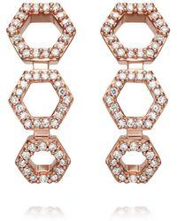 Astley Clarke - Triple Honeycomb Stud Earrings - Lyst