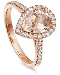 Astley Clarke | Morganite Pear Tearoom Ring | Lyst
