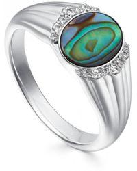 Astley Clarke - Luna Abalone Signet Ring - Lyst