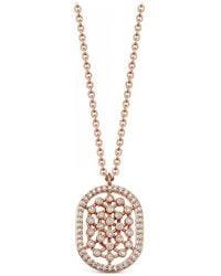 Astley Clarke - Rose Gold Icon Nova Diamond Pendant Necklace - Lyst