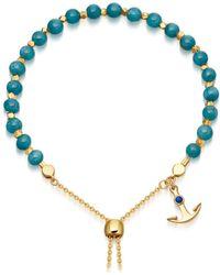 Astley Clarke | Blue Apatite Super Kula Anchor Bracelet | Lyst