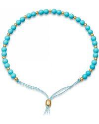 Astley Clarke - Turquoise Beaded Skinny Kula Bracelet - Lyst