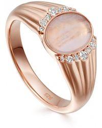 Astley Clarke - Luna Lace Agate Signet Ring - Lyst