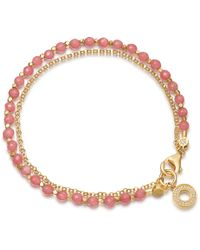 Astley Clarke - Rose Quartzite Mini Halo Biography Bracelet - Lyst