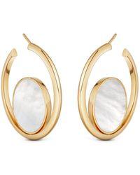 Astley Clarke Stilla Slice Mother Of Pearl Hoop Earrings - Multicolour