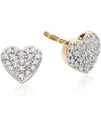 Astley Clarke - Little Heart Stud Earrings - Lyst