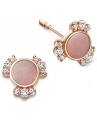 Astley Clarke - Luna Mini Lace Agate Stud Earrings - Lyst
