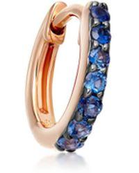 Astley Clarke - Mini Halo Sapphire Single Hoop Earring - Lyst