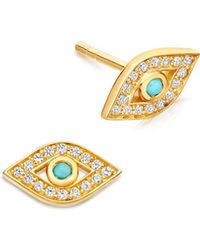 Astley Clarke - Mini Evil Eye Biography Stud Earrings - Lyst