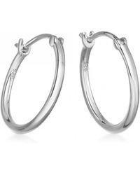 Astley Clarke - Medium Stilla Silver Hoop Earrings - Lyst