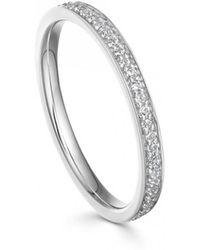 Astley Clarke - White Sapphire Biography Eternity Ring - Lyst