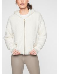Athleta - Reversible Sherpa Jacket - Lyst