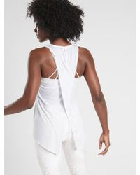 cb72fed301 Lyst - Athleta Essence Tie Back Tank in White