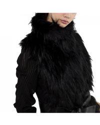 Patrizia Pepe - Fur Gilet In Black - Lyst