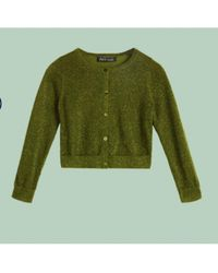 King Louie - Roundneck Cardigan Lapis In Posey Green - Lyst