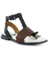 Malloni - Three-colored Thong Sandal 37.5 - Lyst