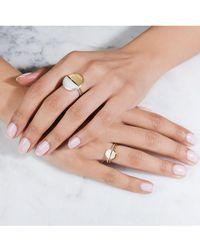Rachel Jackson - Mini Half Moon Gold Adjustable Ring - Lyst