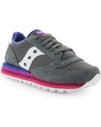 3edc5cea65f4 Lyst - Saucony Jazz Original Charcoal Light Green Sneakers in Blue