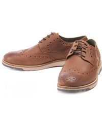 Barbour - Men's Palmer Leather Brogue Shoes - Lyst