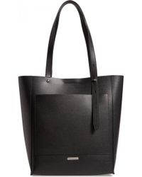 Rebecca Minkoff - Stella North South Tote Black - Lyst