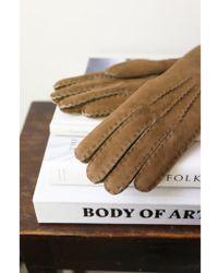 Hestra - Women's Biege Sheepskin Gloves - Lyst