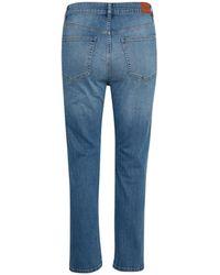 Part Two - Ozaka I Jeans In Blue Denim With Dark Blue Side Stripe - Lyst