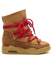 Serafini - Moon Zv Tobacco Shearling Suede Boots - Lyst