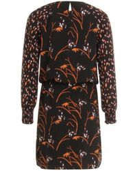 05c65025f829 COSTER COPENHAGEN - Black Dress In Hibiscus Print - Lyst