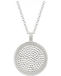 Anna Beck - Beaded Reversible Circle Pendant Necklace - Lyst