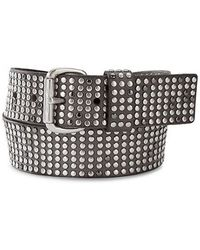 Liebeskind - Light Grey Stud Leather Belt - Lyst