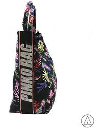 Pinko - Floral Print Tote Bag In Black - Lyst