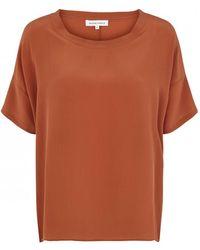 Second Female - Tonga Silk Top Rust - Lyst