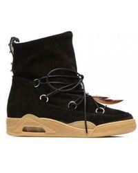 Serafini - Moon Black Suede Boots - Lyst